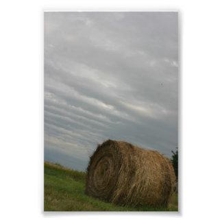 Haystack storm clouds farm unique art photograph