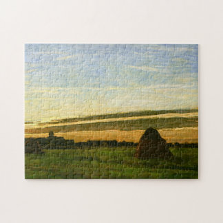 Haystacks at Chailly Monet Fine Art Jigsaw Puzzle