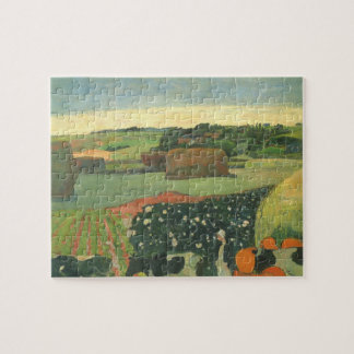 Haystacks in Brittany by Paul Gauguin, Vintage Art Jigsaw Puzzle