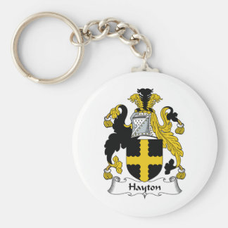 Hayton Family Crest Basic Round Button Key Ring