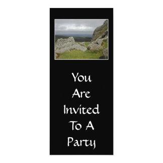 Haytor. Rocks in Devon England. 10 Cm X 24 Cm Invitation Card