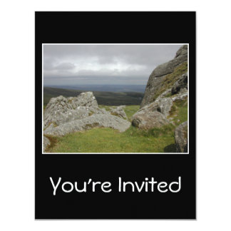 Haytor. Rocks in Devon England. 11 Cm X 14 Cm Invitation Card