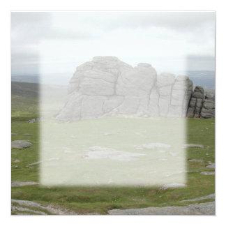Haytor. Rocks in Devon England. 13 Cm X 13 Cm Square Invitation Card