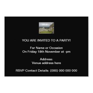 Haytor. Rocks in Devon England. 13 Cm X 18 Cm Invitation Card