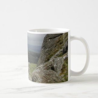 Haytor. Rocks in Devon England. Basic White Mug