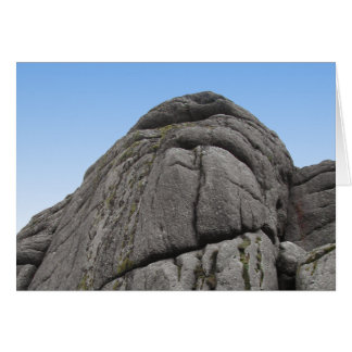 Haytor. Rocks in Devon England. Card