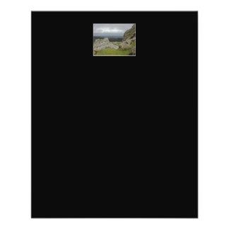 Haytor. Rocks in Devon England. Personalized Flyer