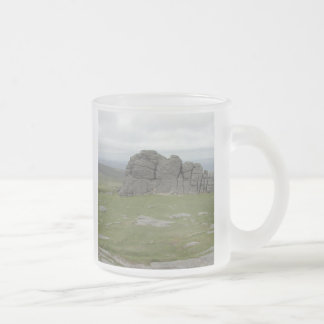 Haytor. Rocks in Devon England. Frosted Glass Mug