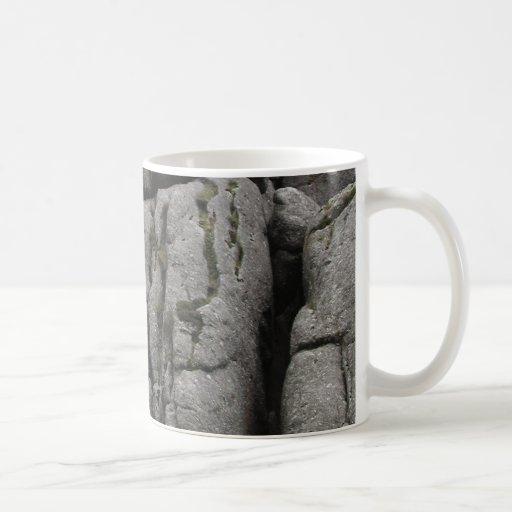 Haytor. Rocks in Devon England. Mugs