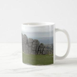 Haytor. Rocks in Devon England. Basic White Mug
