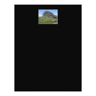 Haytor. Rocks in Devon England. On Black. Custom Flyer