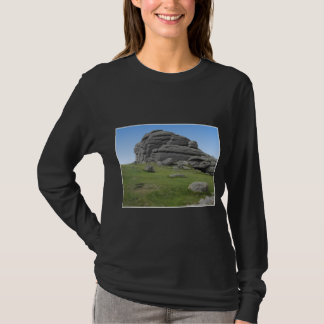 Haytor. Rocks in Devon England. On Black. T-Shirt