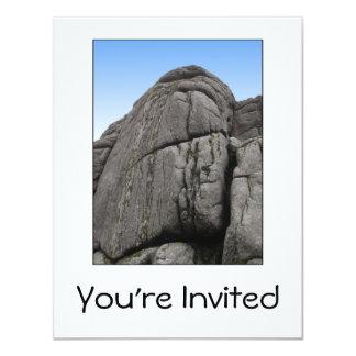Haytor. Rocks in Devon England. On White. 11 Cm X 14 Cm Invitation Card