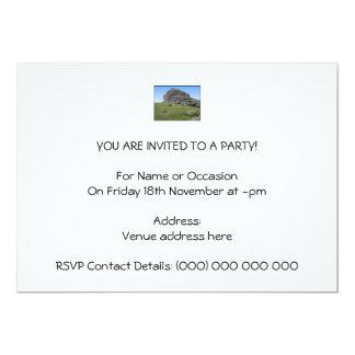 Haytor. Rocks in Devon England. On White. 13 Cm X 18 Cm Invitation Card