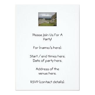 Haytor. Rocks in Devon England. On White. 17 Cm X 22 Cm Invitation Card