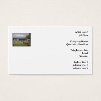 Haytor. Rocks in Devon England. On White. Business Card