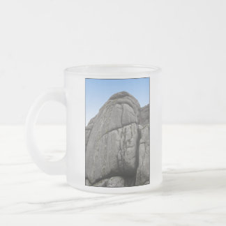 Haytor. Rocks in Devon England. On White. Frosted Glass Mug