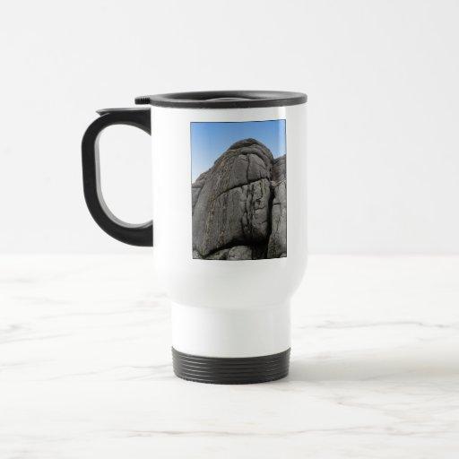 Haytor. Rocks in Devon England. On White. Mug