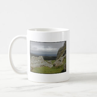 Haytor. Rocks in Devon England. On White. Coffee Mugs
