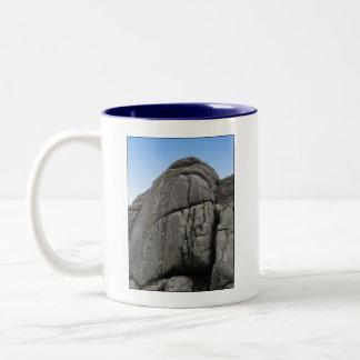 Haytor. Rocks in Devon England. On White. Mugs