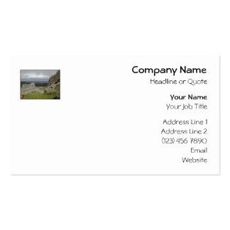Haytor. Rocks in Devon England. On White. Pack Of Standard Business Cards