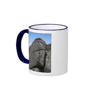 Haytor. Rocks in Devon England. On White. Ringer Mug