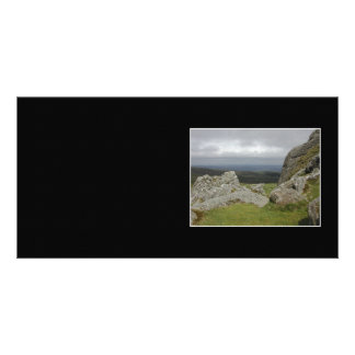 Haytor. Rocks in Devon England. Custom Photo Card