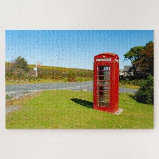 Haytor Vale Telephone Box Jigsaw Puzzle