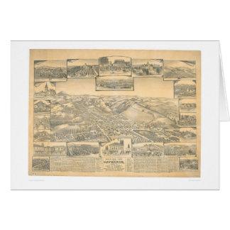 Hayward, CA. Panoramic Map (0696A) Greeting Card