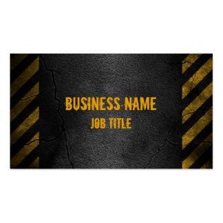 Hazard Lines Asphalt Business Card
