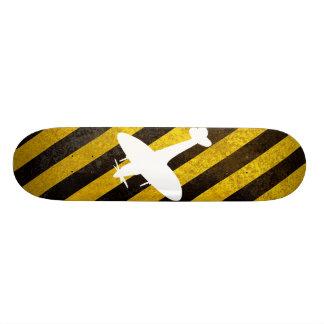 hazard, spitfire white skateboard deck