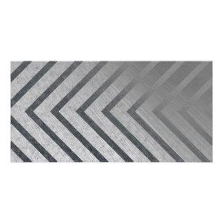 Hazard Stripe Metal Picture Card