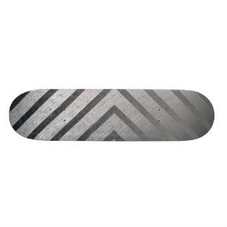 Hazard Stripe Metal Skate Board Decks