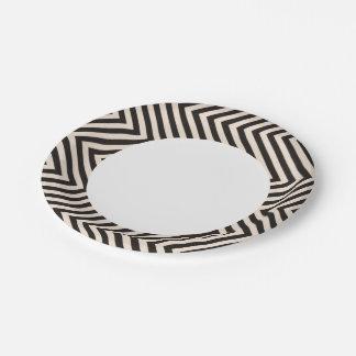 Hazard Stripes 7 Inch Paper Plate