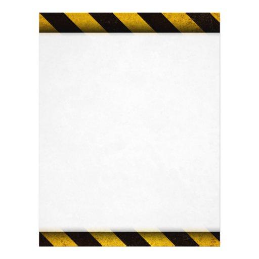 Hazard Stripes Flier (2-sided) Flyer