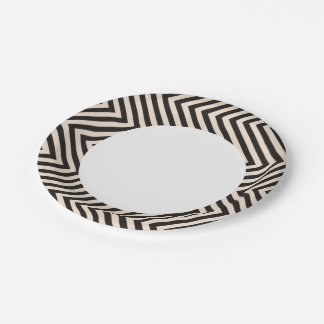 Hazard Stripes Paper Plate