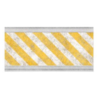 Hazard Stripes Warning Pattern Photo Greeting Card