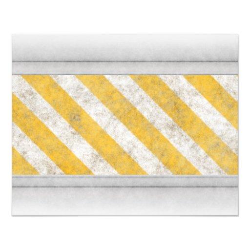Hazard Stripes Warning Pattern Art Photo