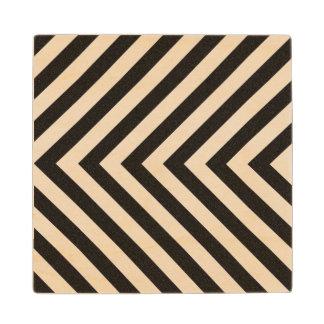 Hazard Stripes Wood Coaster