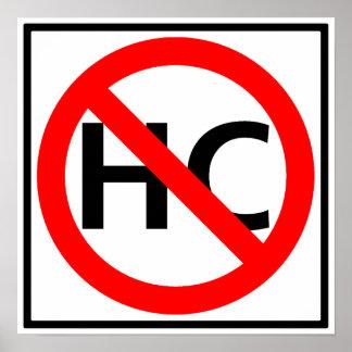 Hazardous Cargo Prohibited Highway Sign Poster