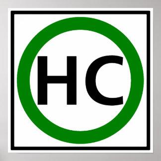 Hazardous Cargo Route Highway Sign Poster