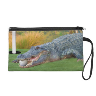Hazardous Lie Golf Alligator Wristlet Bag