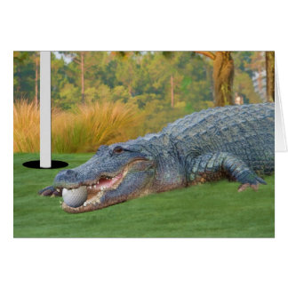 Hazardous Lie Golfing Alligator Card