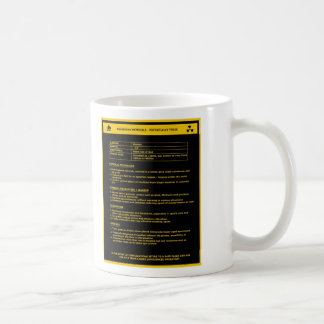 Hazardous Material Sign - Women Basic White Mug