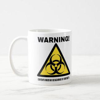 Hazardous! (right hand dominant) basic white mug
