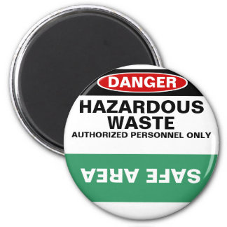 Hazardous/Safe dishwasher magnet