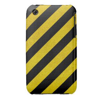 hazardous stripes iPhone 3 cases