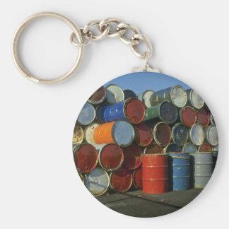 Hazardous waste barrels keychain
