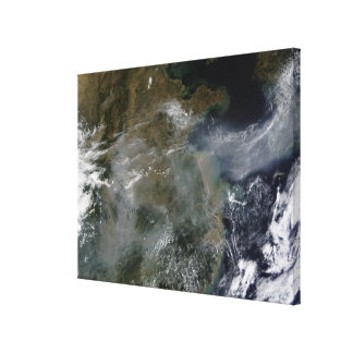 Haze across the North China Plain Canvas Print