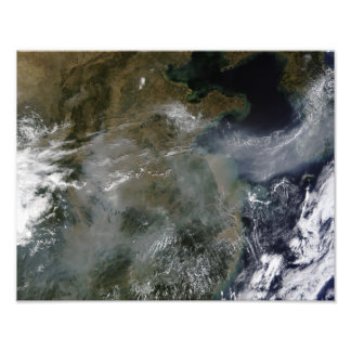 Haze across the North China Plain Photo Print
